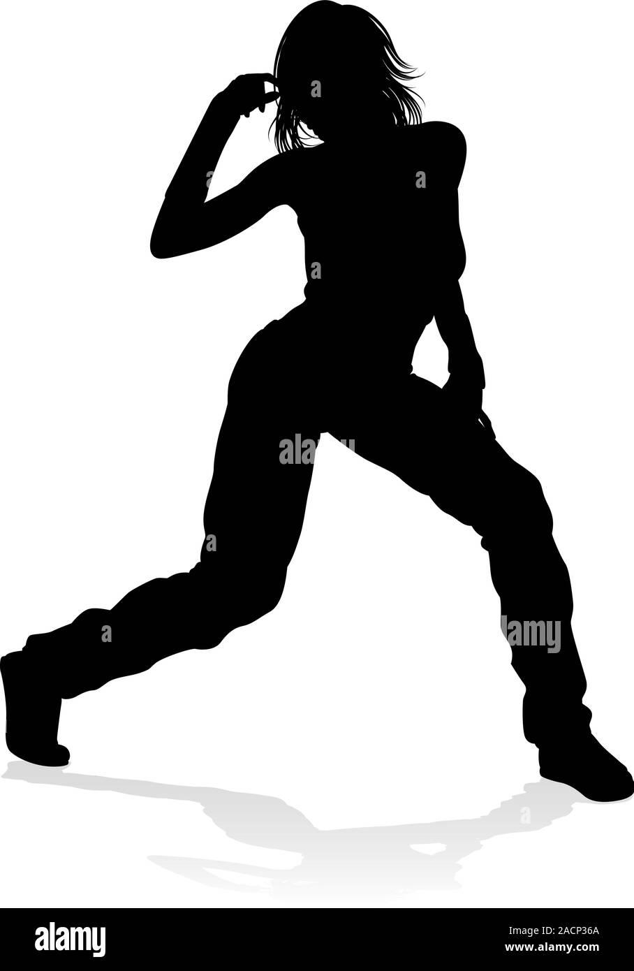 Street Dance Dancer Silhouette Stock Vector Image Art Alamy