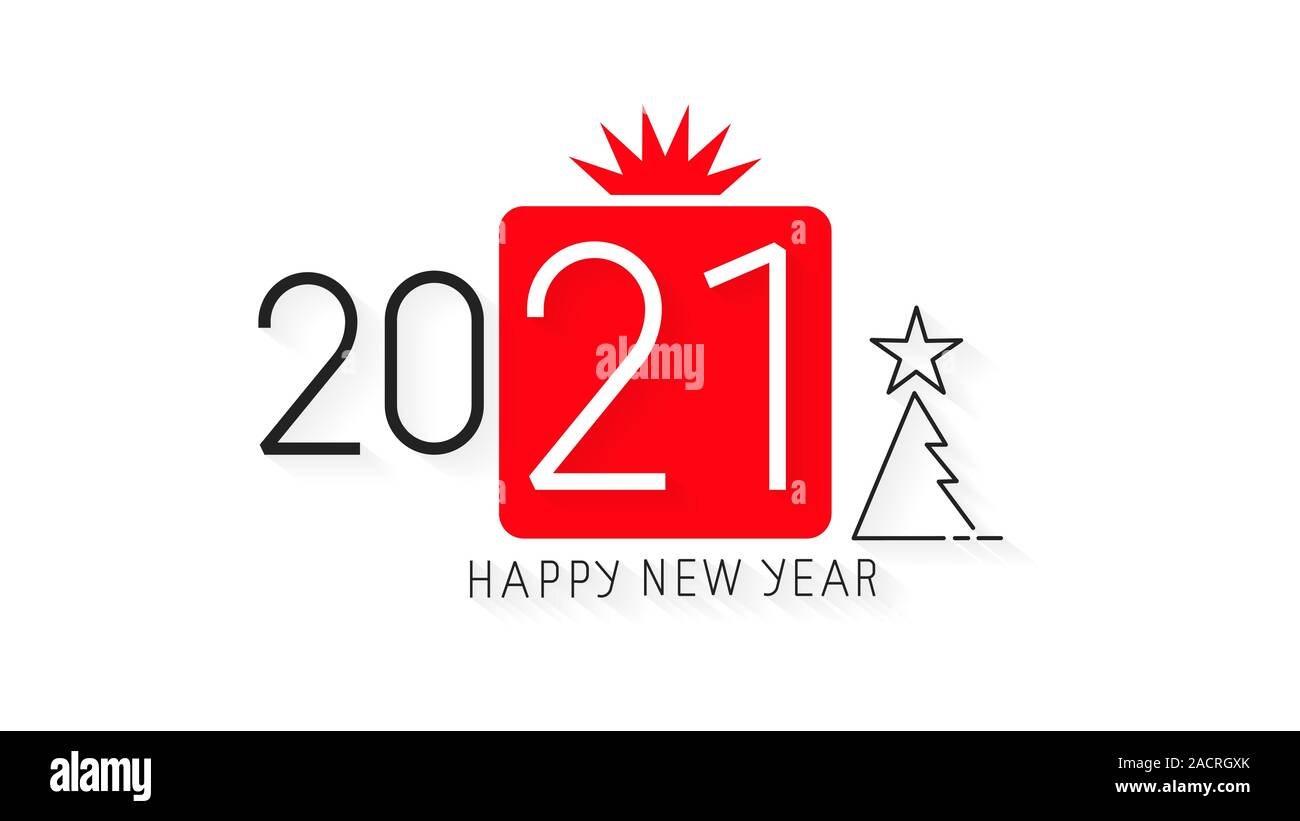 Happy New Year 2021 Design Vector Illustration Brochure Design Template Card Banner Vector Illustration Stock Vector Image Art Alamy