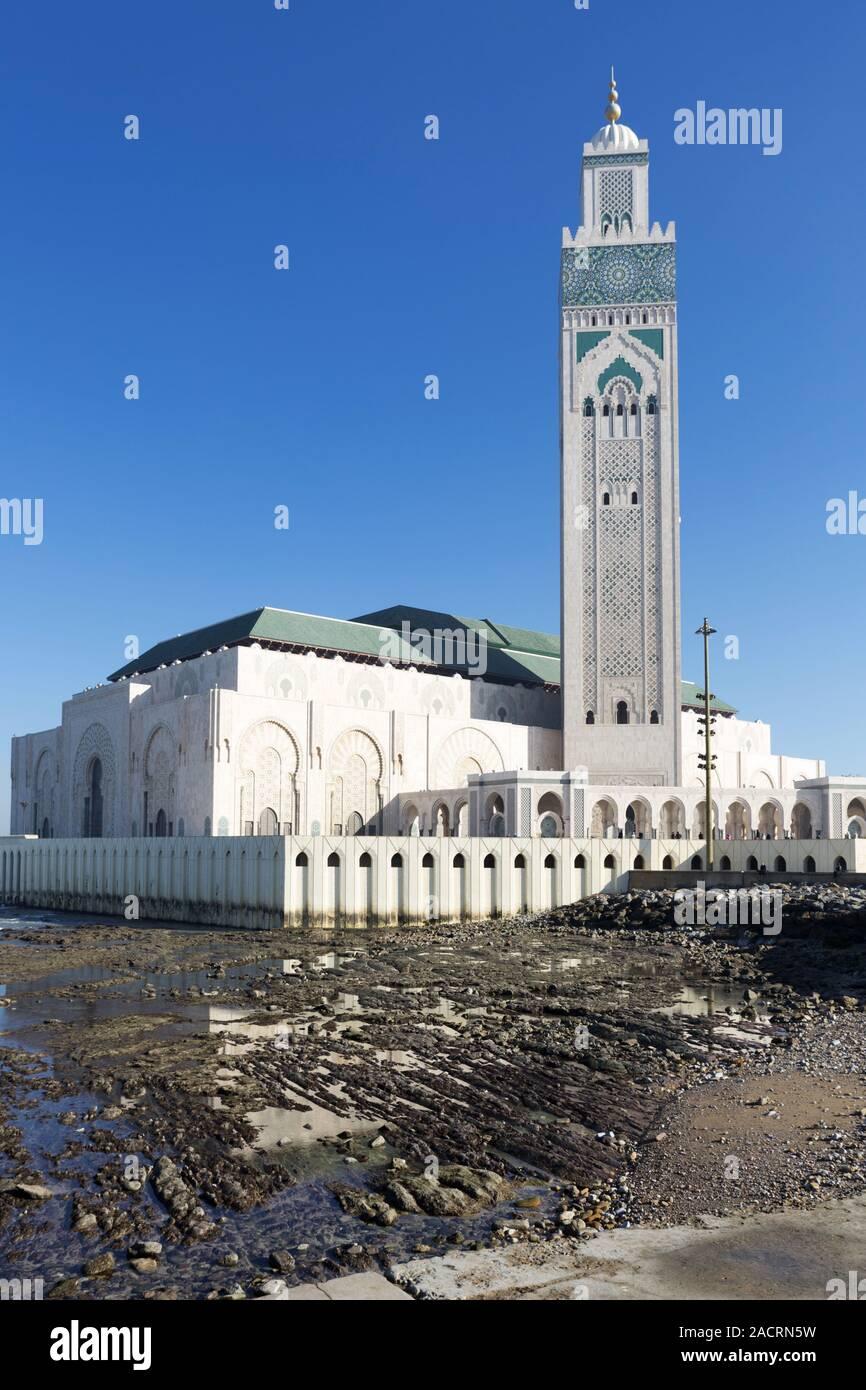 Moschee Hassan II in Casablanca, Morocco Stock Photo