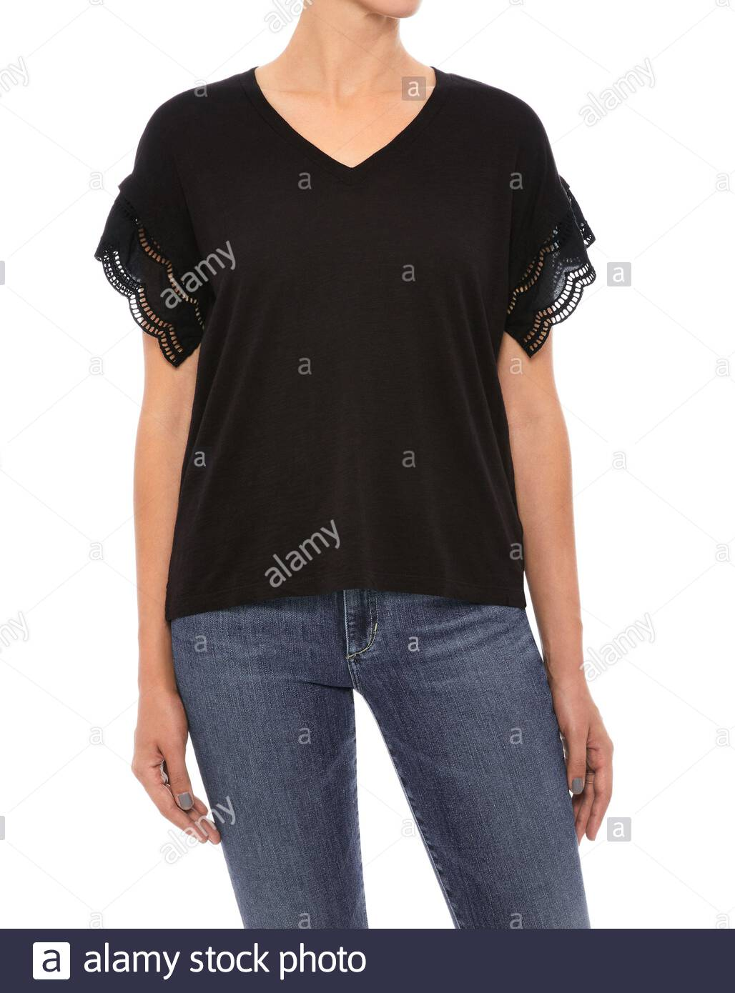 Blank Women T Shirt Template Isolated Stock Photos Blank