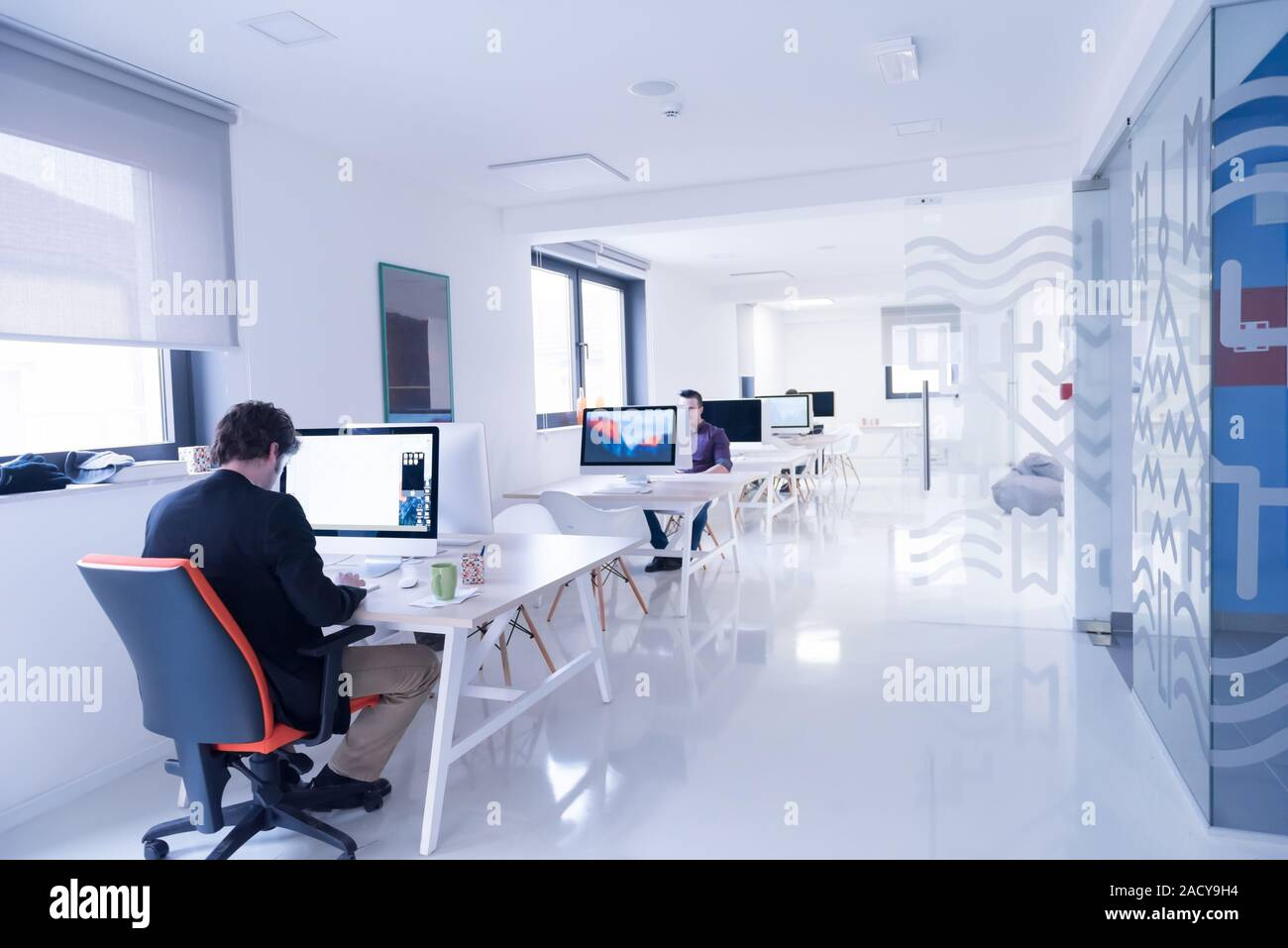 Startup Business Software Developer Working On Computer Stock Photo Alamy