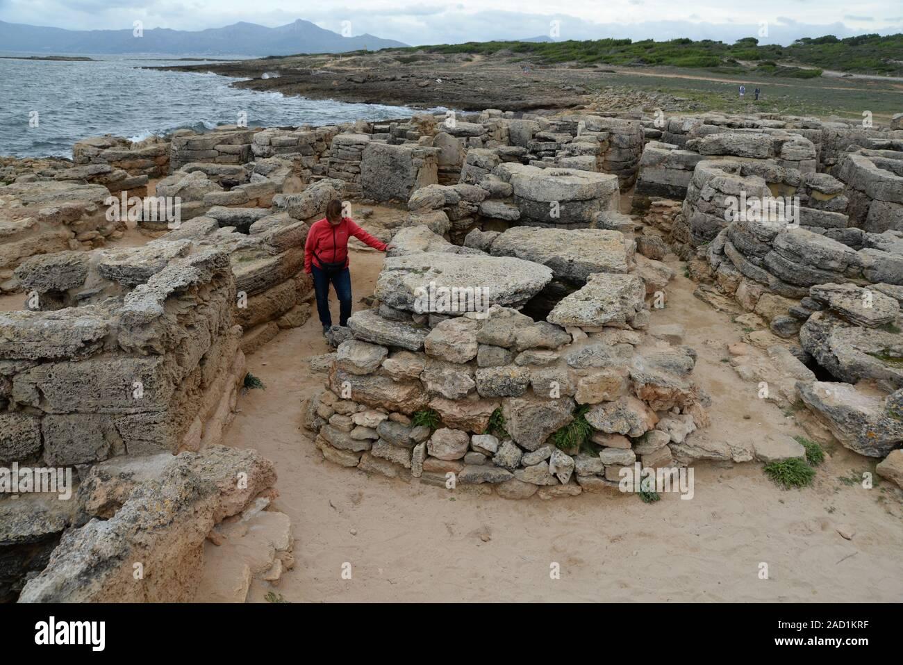 Necropolis of Son Real, Mallorca Stock Photo