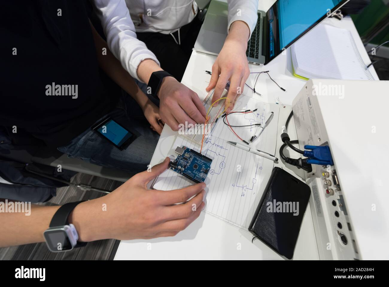 It Students In Computer Science Classroom Stock Photo 335037825 Alamy