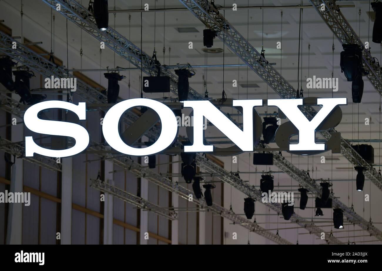 Logo Sony, Internationale Funkaustellung, Berlin 2019, Deutschland Stock Photo