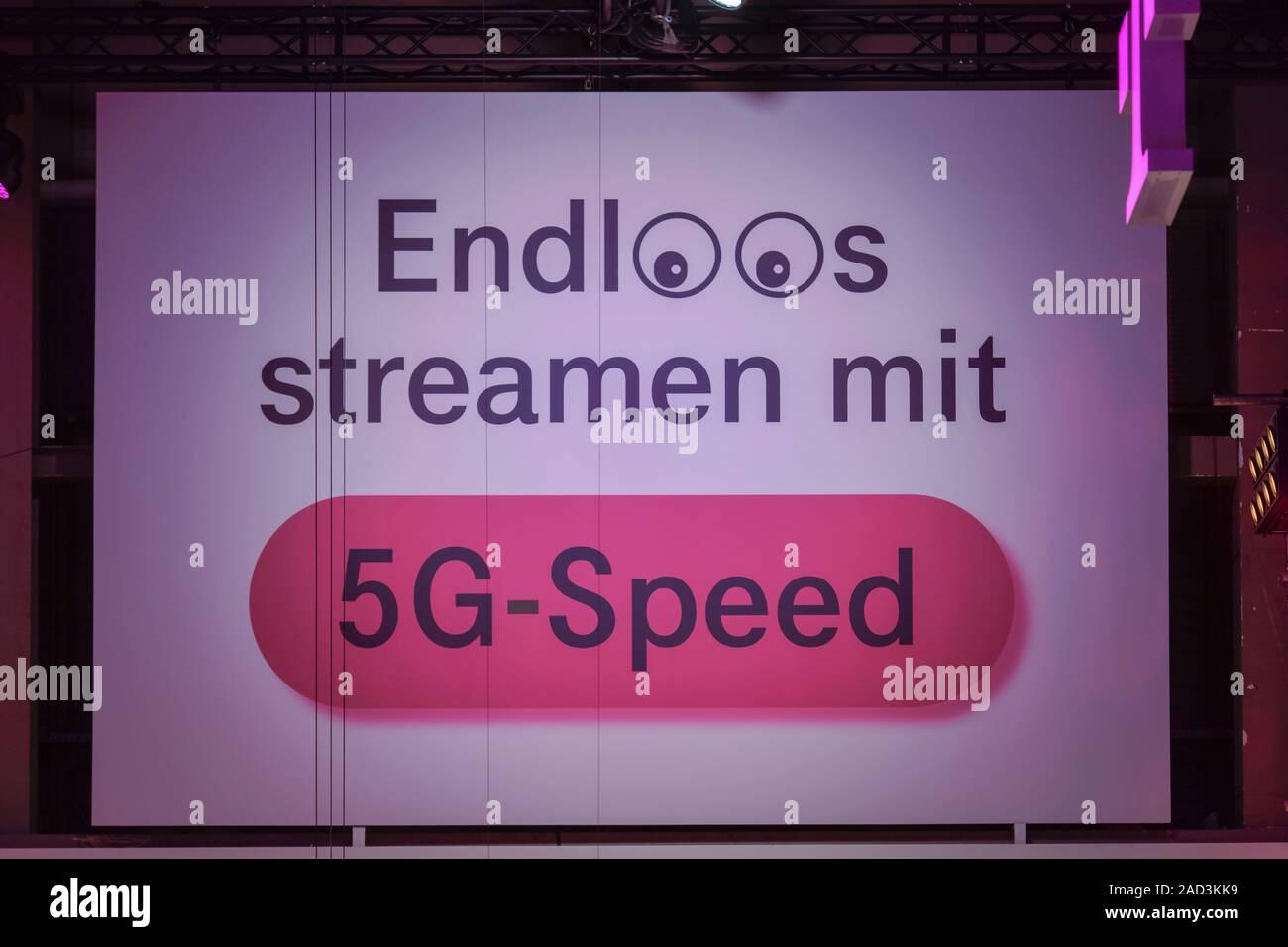 Mobilfunk 5 G, Deutsche Telekom, Internationale Funkaustellung, Berlin 2019, Deutschland Stock Photo