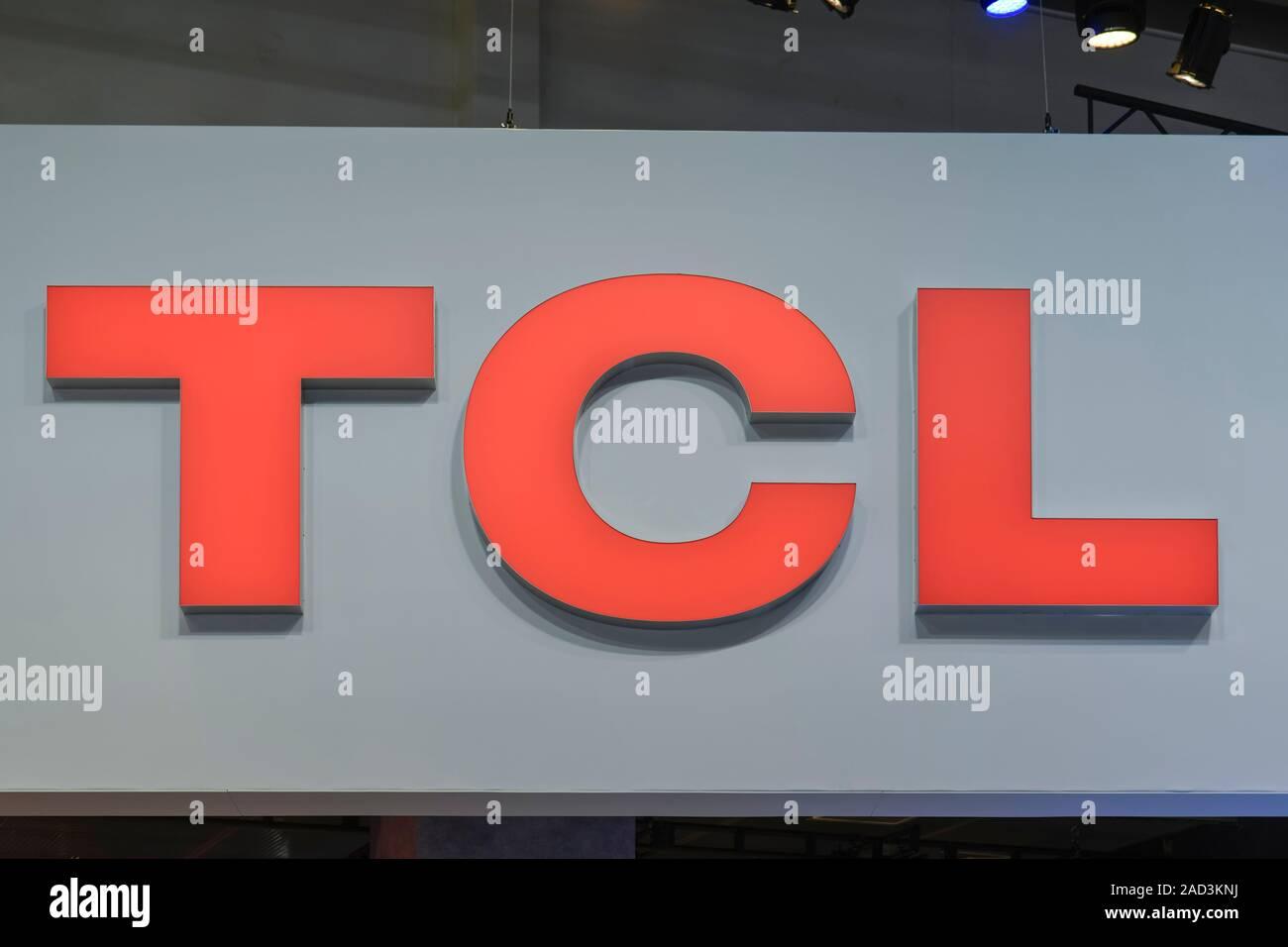 Logo TCL, Internationale Funkaustellung, Berlin 2019, Deutschland Stock Photo