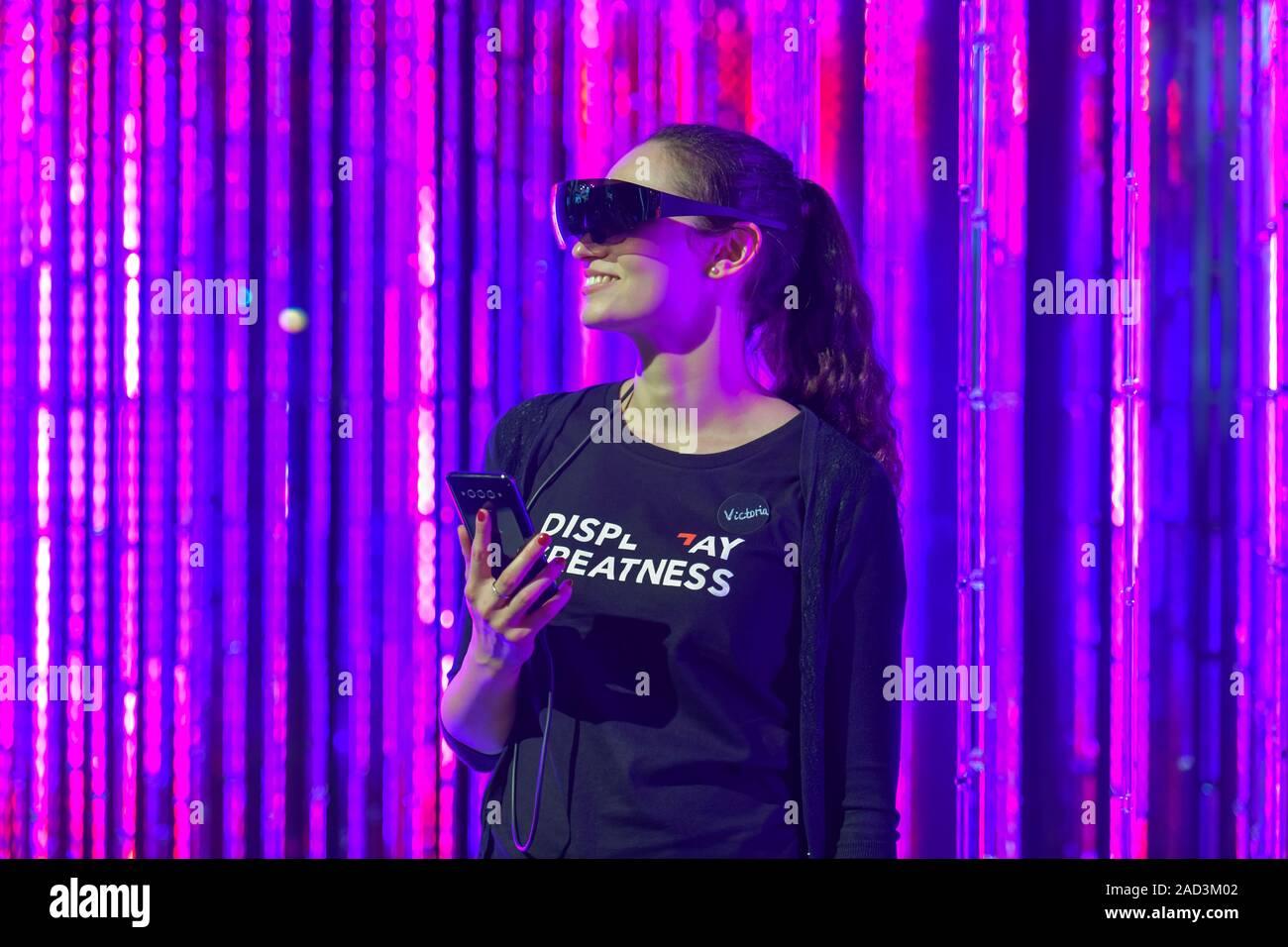 Datenbrille, TCL Plex Experience, Internationale Funkaustellung, Berlin 2019, Deutschland Stock Photo