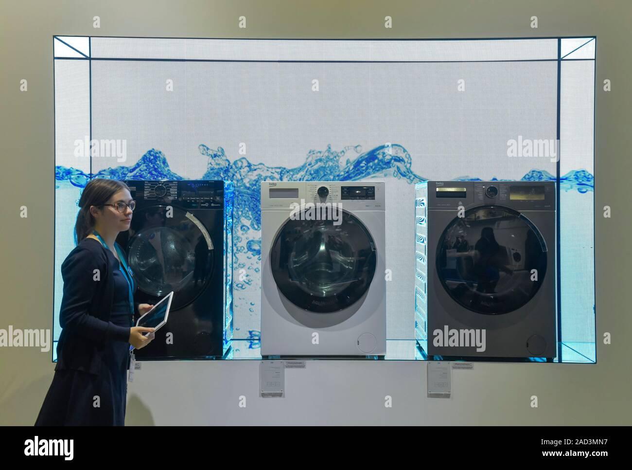 Waschmaschinen beko, Internationale Funkaustellung, Berlin 2019, Deutschland Stock Photo
