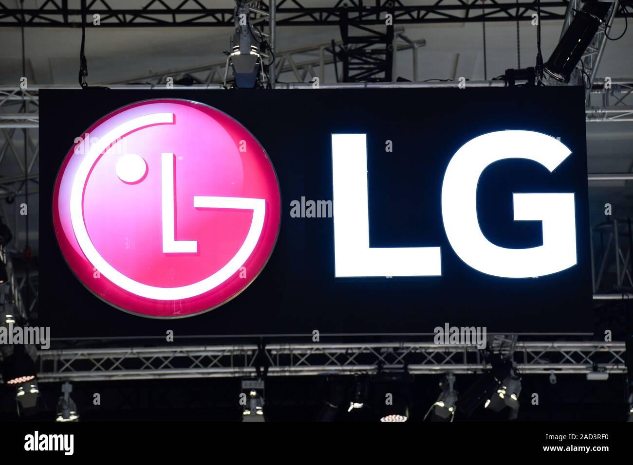 Logo von LG, Internationale Funkaustellung, Berlin 2019, Deutschland Stock Photo