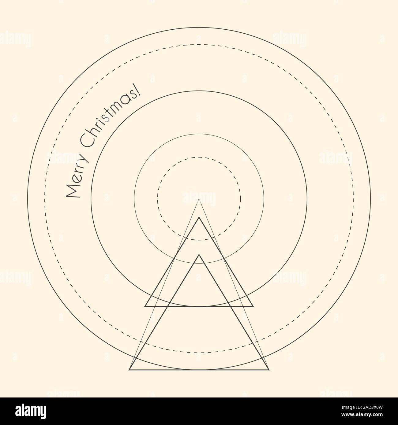 Geometric Line Art Template from c8.alamy.com