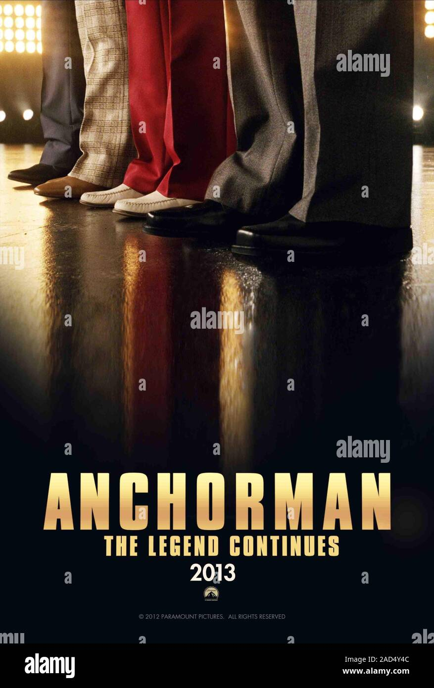 Movie Poster Anchorman 2 The Legend Continues 2013 Stock Photo Alamy