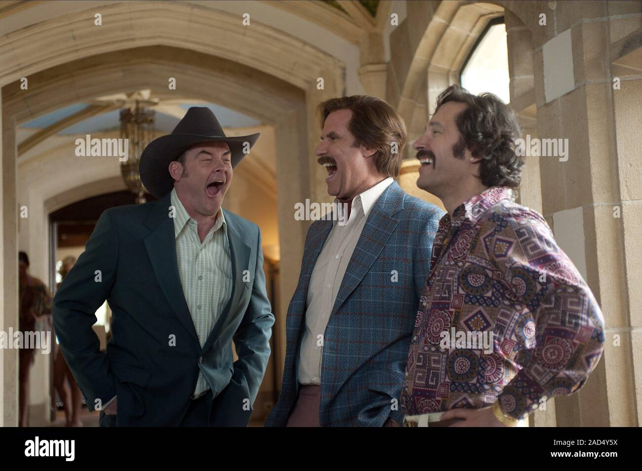 David Koechner Will Ferrell Paul Rudd Anchorman 2 The Legend Continues 2013 Stock Photo Alamy