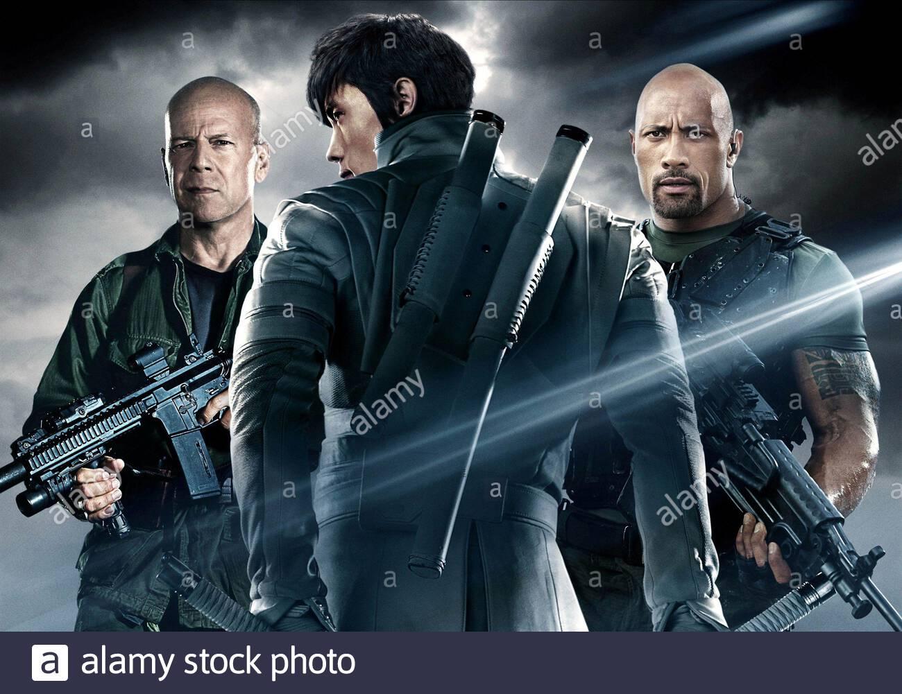 Bruce Willis Byung Hun Lee Dwayne Johnson G I Joe Retaliation 2013 Stock Photo Alamy