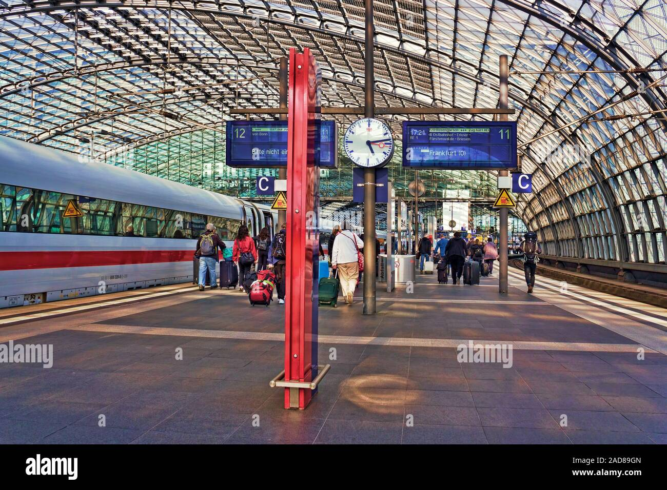rail strike Stock Photo