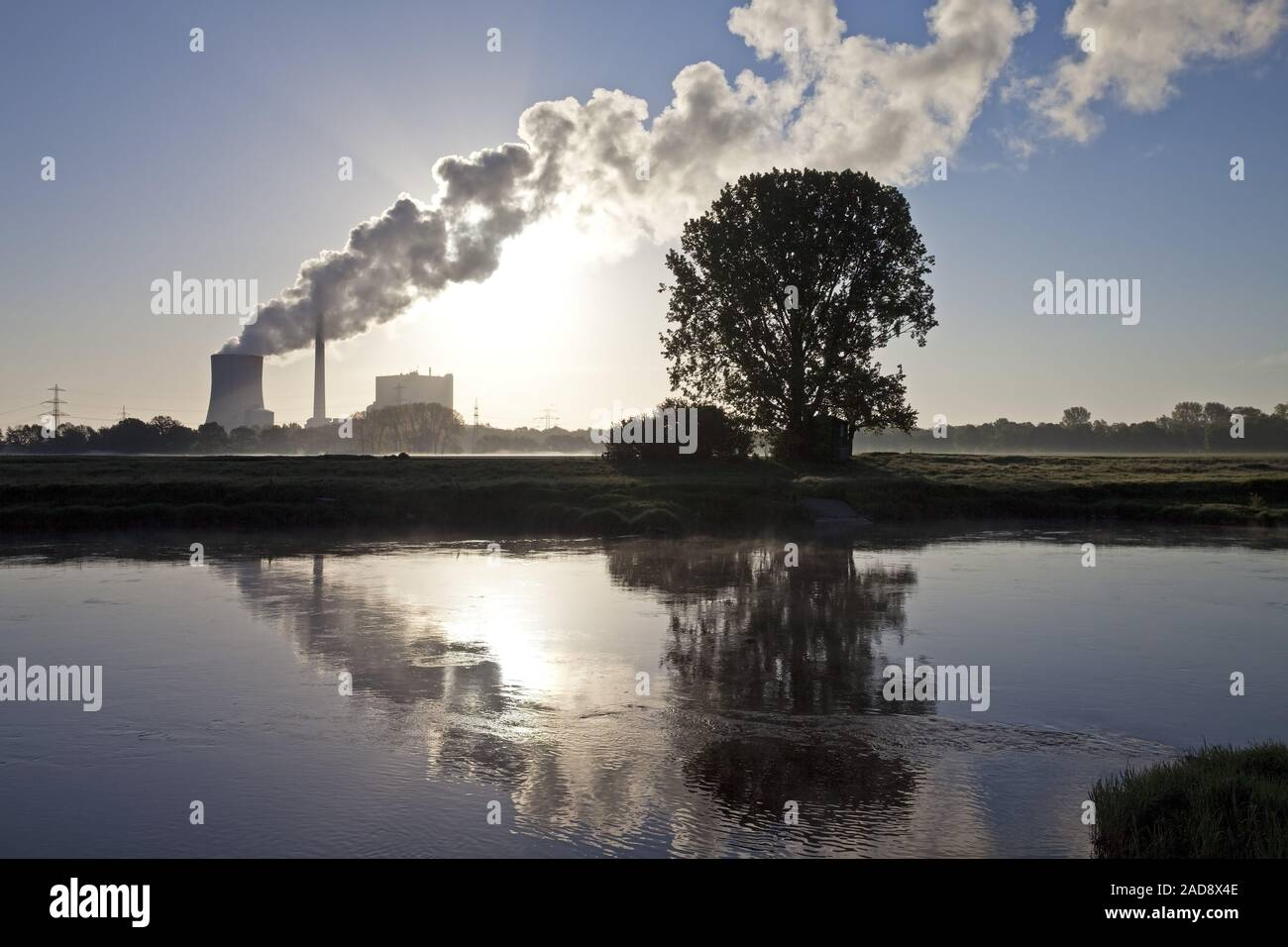 hard coal-fired power station Heyden, global warming, coal phase-out, Petershagen, Germany Europe Stock Photo