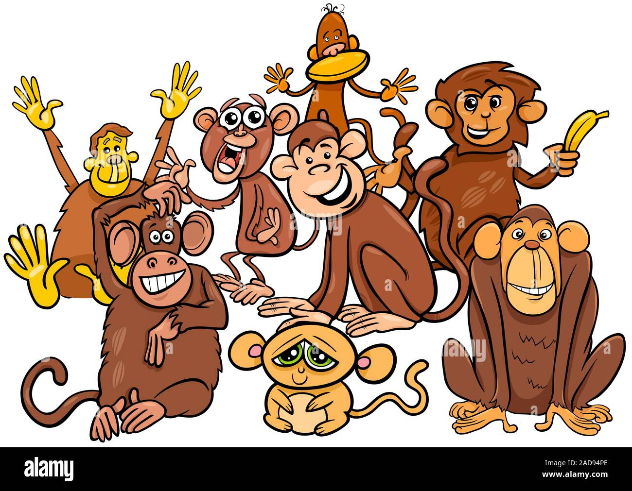 Baboon Cartoon High Resolution Stock Photography And Images Alamy Baboon cartoon character illustrations & vectors. https www alamy com happy monkey cartoon characters group image335188854 html