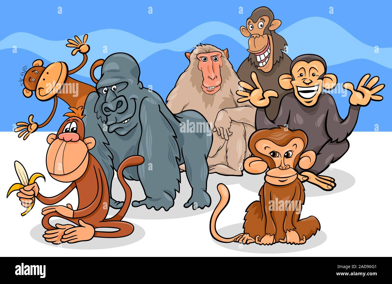 Baboon Cartoon High Resolution Stock Photography And Images Alamy He was the main antagonist of season 1, and the secondly antagonist/protagonist of the following seasons. https www alamy com monkeys and apes cartoon characters group image335190241 html