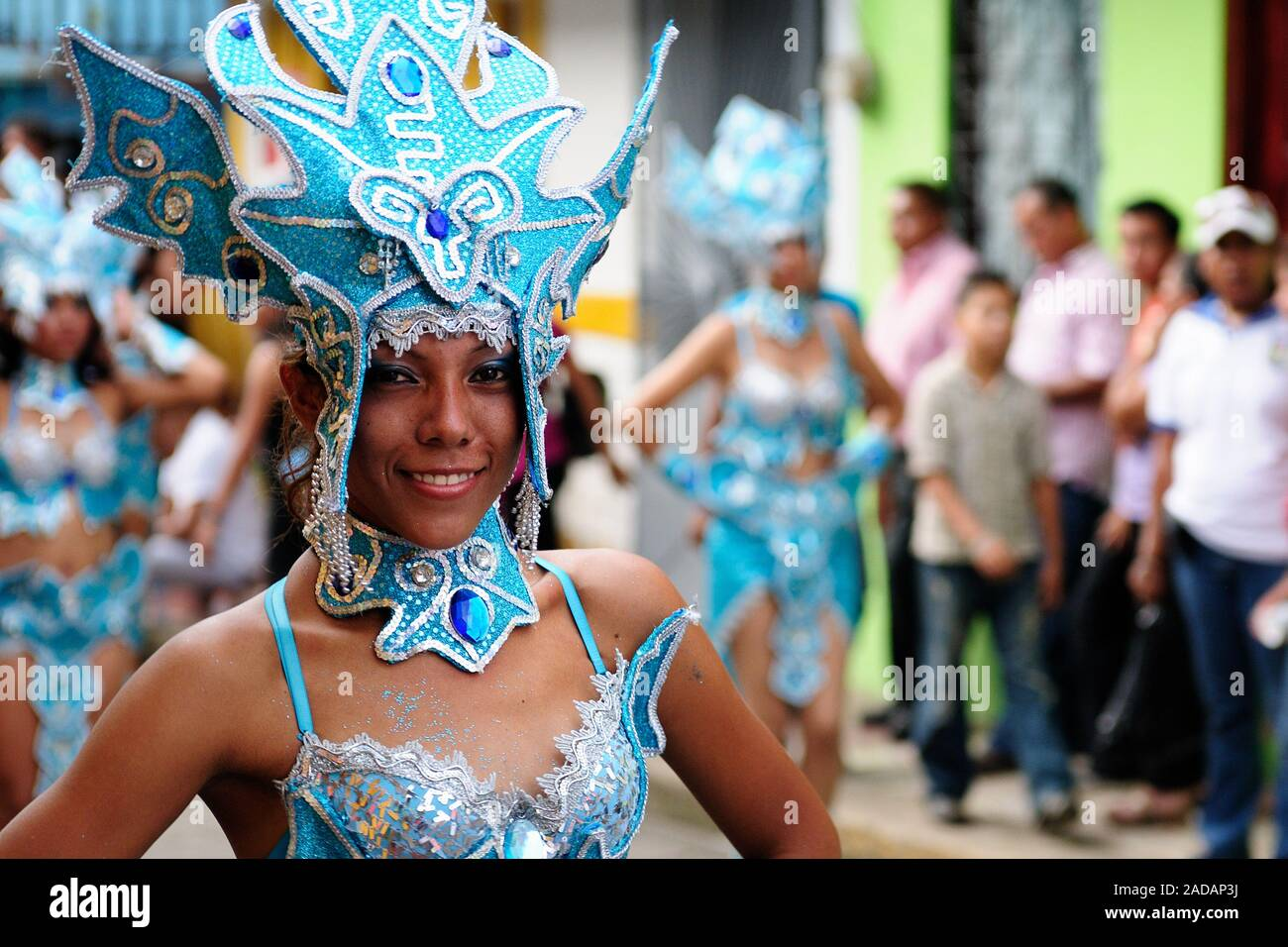 San Juan, Nicaragua, Central America - 24 November 2012: Portrait of the participant in the parade in the city San Juan of Nicaragua Stock Photo