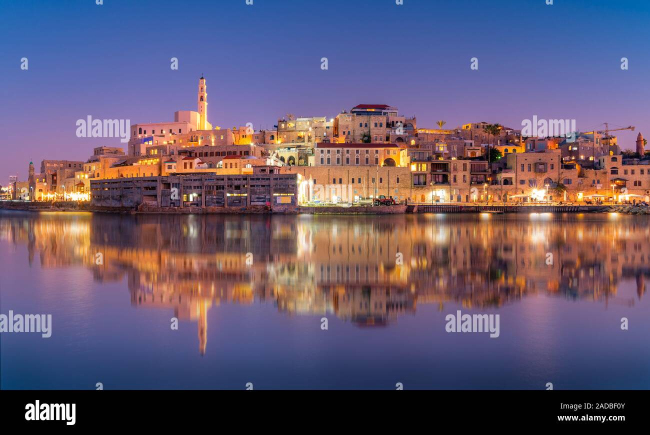 Beautiful panoramic view of Jaffa port and old town in Tel Aviv, Israel Stock Photo