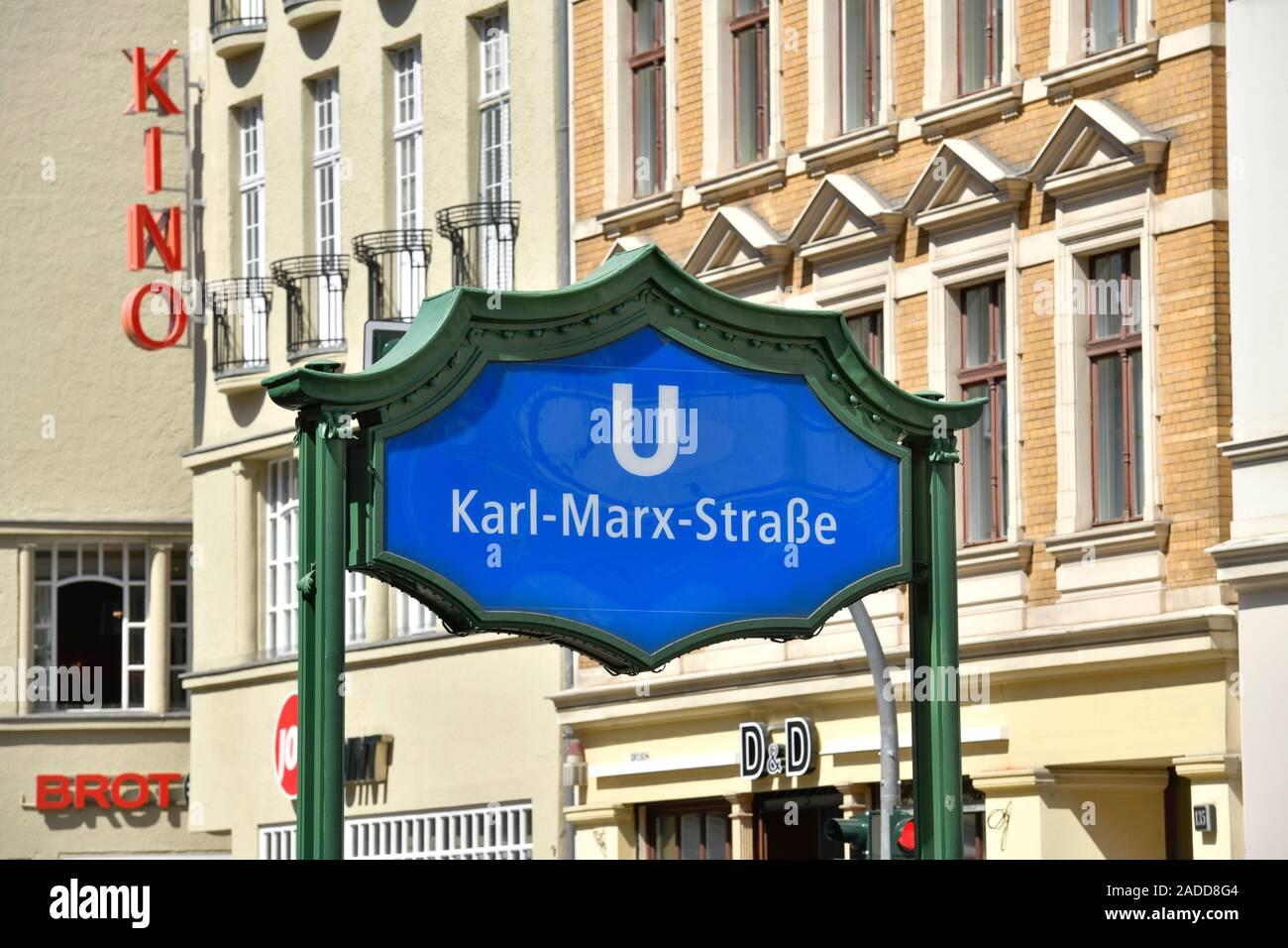 Passage Kino, Karl-Marx-Straße, Neukölln, Berlin, Deutschland Stock Photo