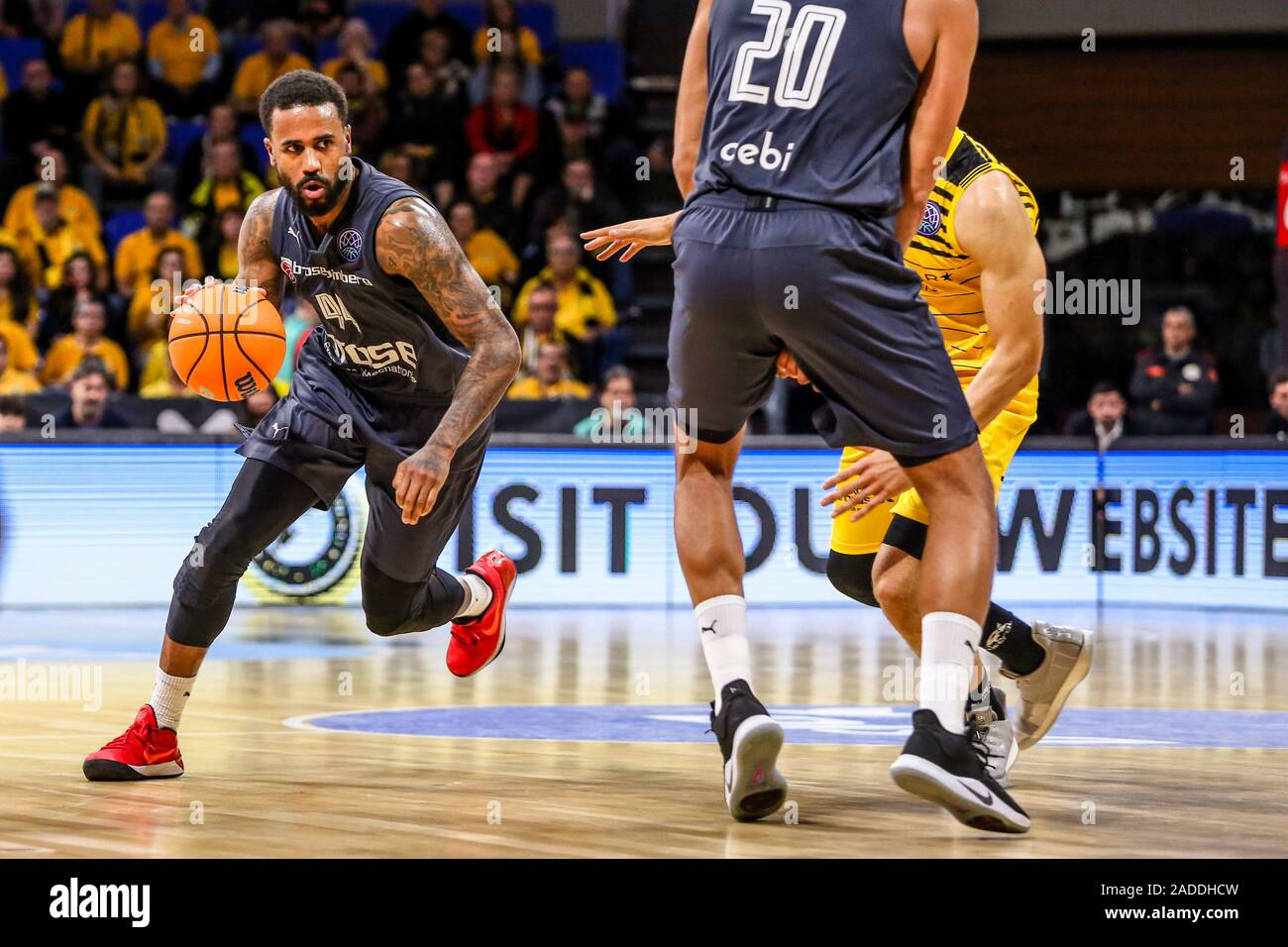 Tenerife, Italy. 3rd Dec, 2019. bryce taylor (brose bamberg) in actionduring Iberostar Tenerife vs Bamberg, Basketball Champions League in Tenerife, Italy, December 03 2019 - LPS/Davide Di Lalla Credit: Davide Di Lalla/LPS/ZUMA Wire/Alamy Live News Stock Photo