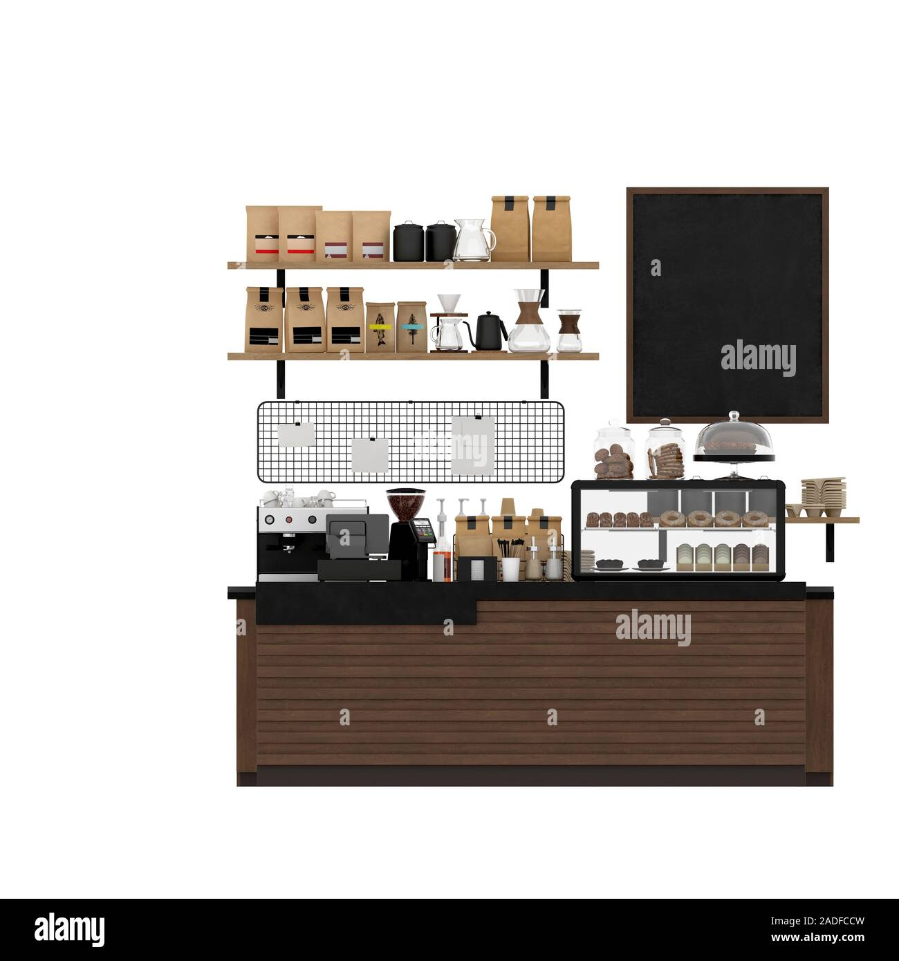3d Render Cafe Bar Interior High Resolution Stock Photography And Images Alamy