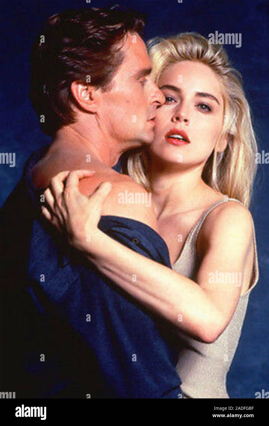 Basic Instinct 1992 Tristar Pictures Film With Sharon Stone And Michael Douglas Stock Photo Alamy