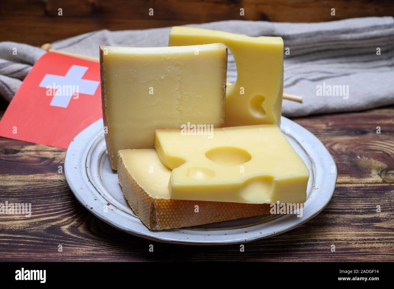 Cheese Collection Swiss Emmentaler Gruyere Appenzeller