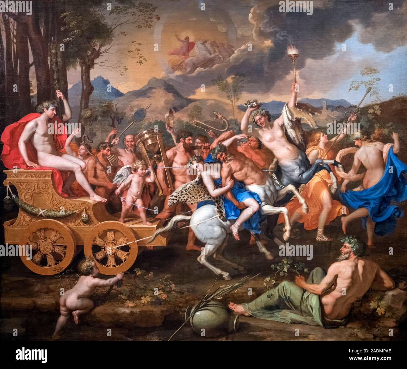 The Triumph of Bacchus (Le Triomphe de Bacchus) by Nicolas Poussin (1594-1665), oil on canvas, 1635-6 Stock Photo
