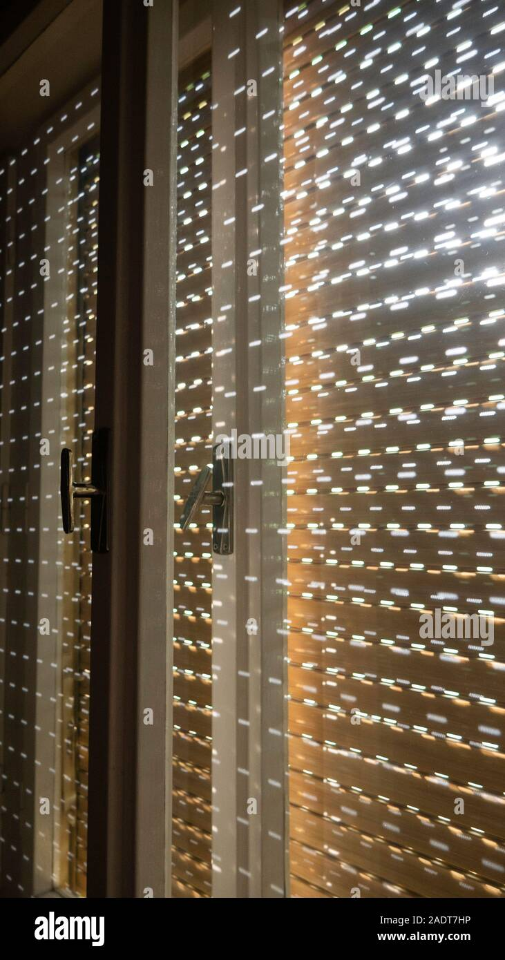 Windows With Old Retro Wooden Shutters Inside View Stock