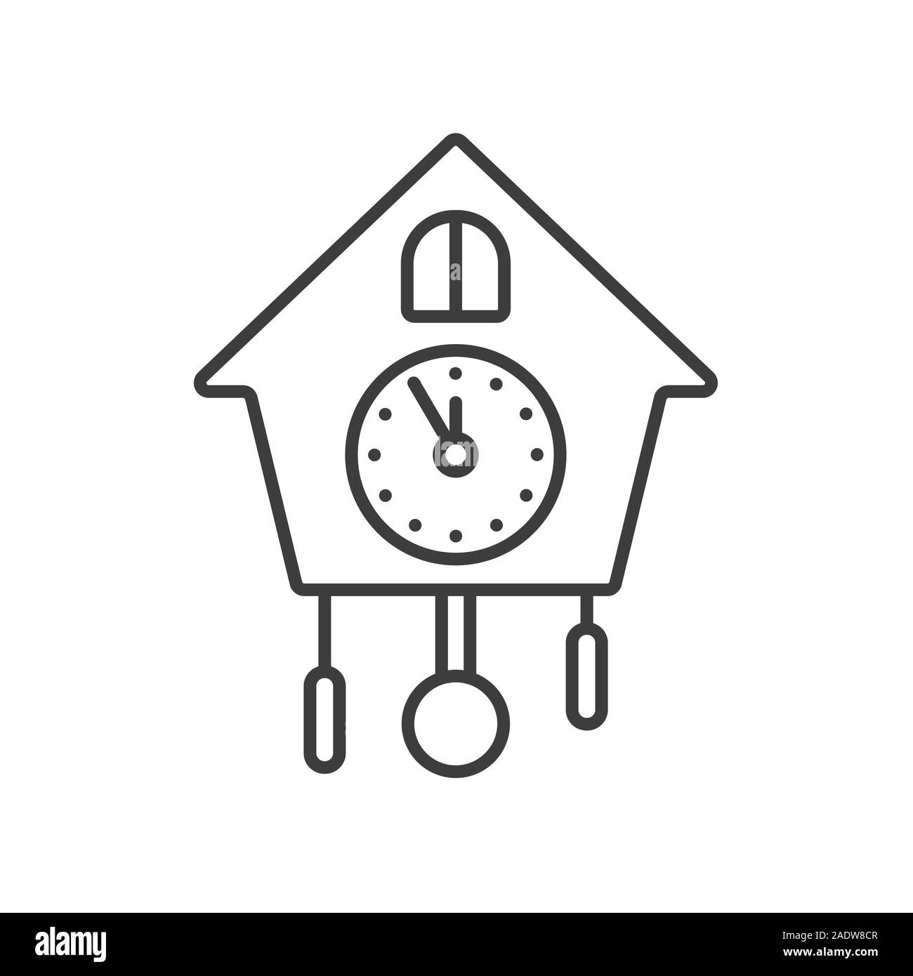 Wall clock linear icon. Thin line illustration. Contour symbol. Vector isolated outline drawing Stock Vector