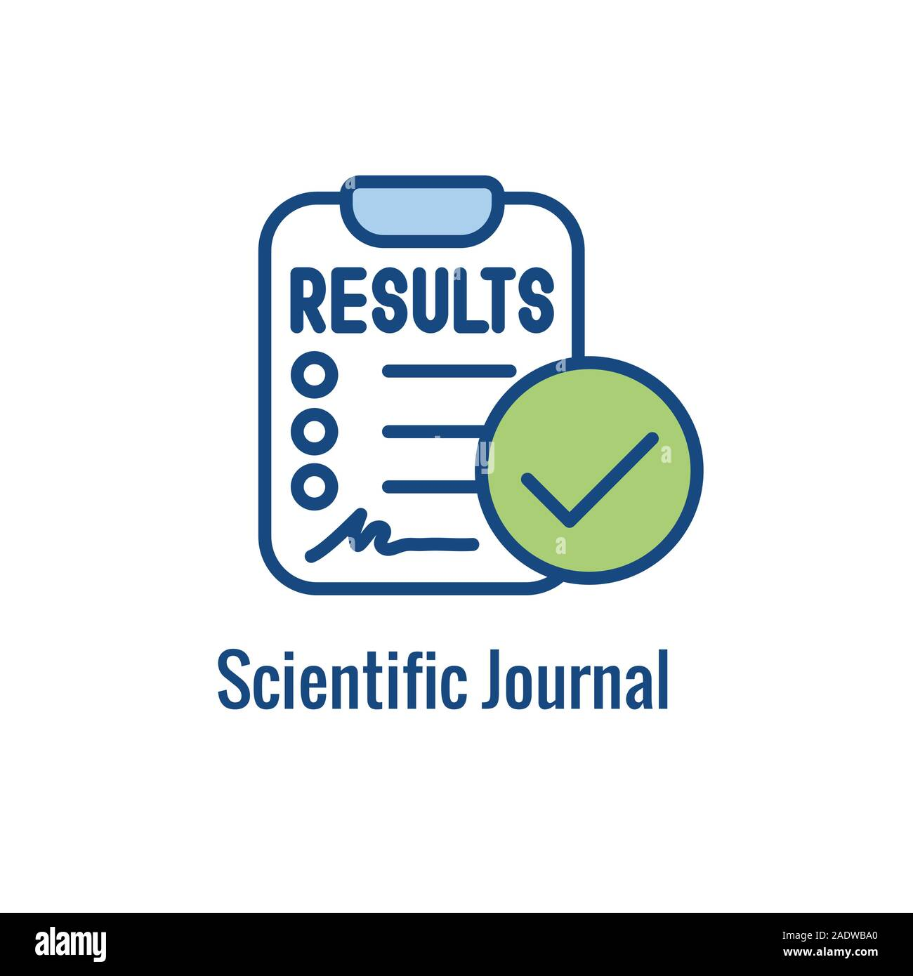 Science & Research Icon showing one part of the scientific process Stock Vector