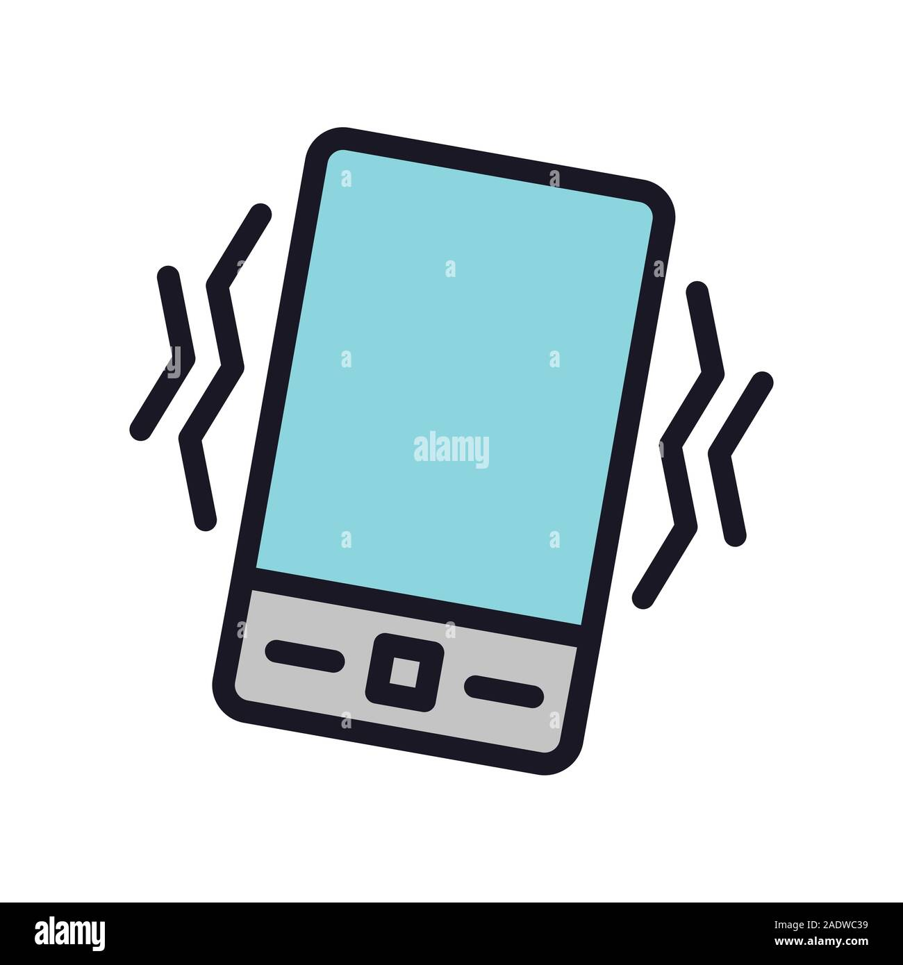 Phone Sound off or on Icon w lines showing sound Stock Vector
