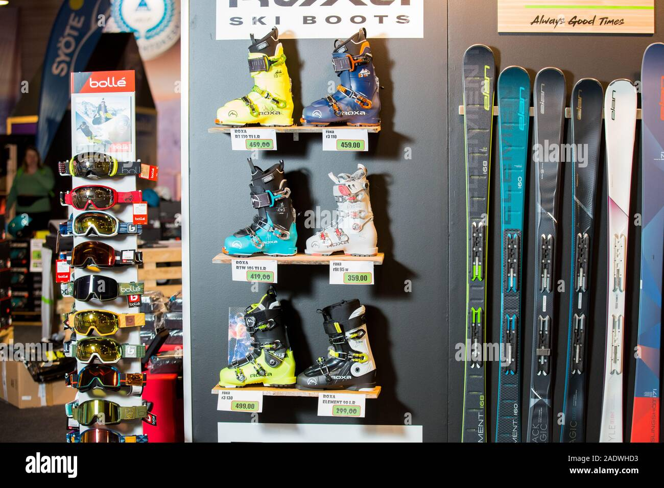 Ski Boots Sale >> Helsinki Finland November 15 2019 Ski Shop Sale Rows