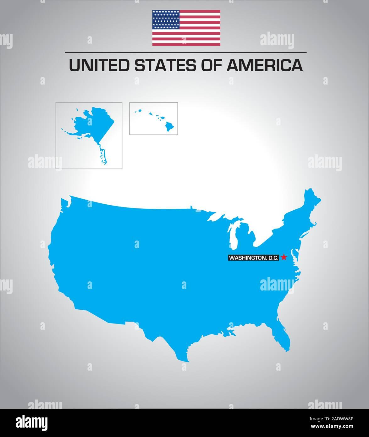 United States Map Alaska And Hawaii Stock Photos & United ...
