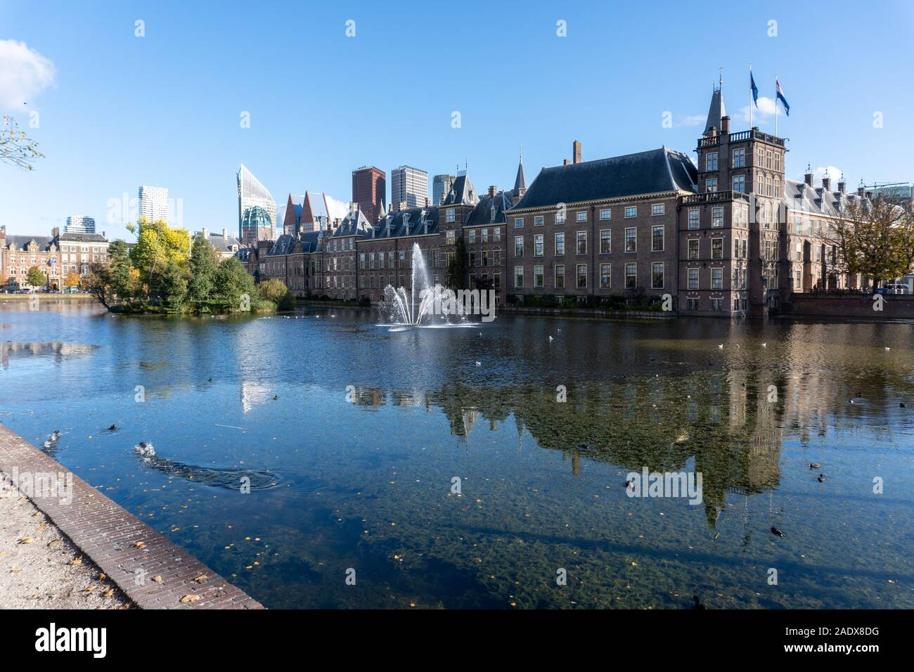 The Binnenhof, location of the Dutch government in The Hague Stock Photo