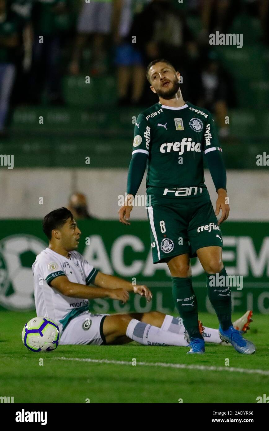 Campinas, Brazil. 05th Dec, 2019. Zé Rafael during a match between Palmeiras x Goiás held at Brinco de Ouro Stadium in Campinas, SP. The match is valid for the 37th round of the 2019 Brazilian Championship. Credit: Ricardo Moreira/FotoArena/Alamy Live News Stock Photo