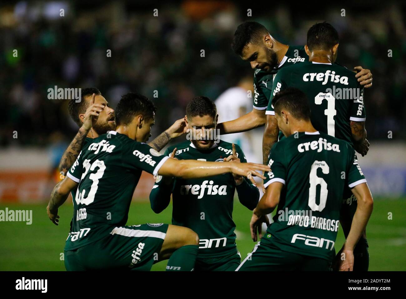 Campinas, Brazil. 05th Dec, 2019. Zé Rafael celebrates his goal, Palmeiras'st goal oal during a match between Palmeiras x Goiás held at Brinco de Ouro Stadium in Campinas, The match ich is valid for the 37th round of the 2019 Brazilian Championship. Credit: Ricardo Moreira/FotoArena/Alamy Live News Stock Photo
