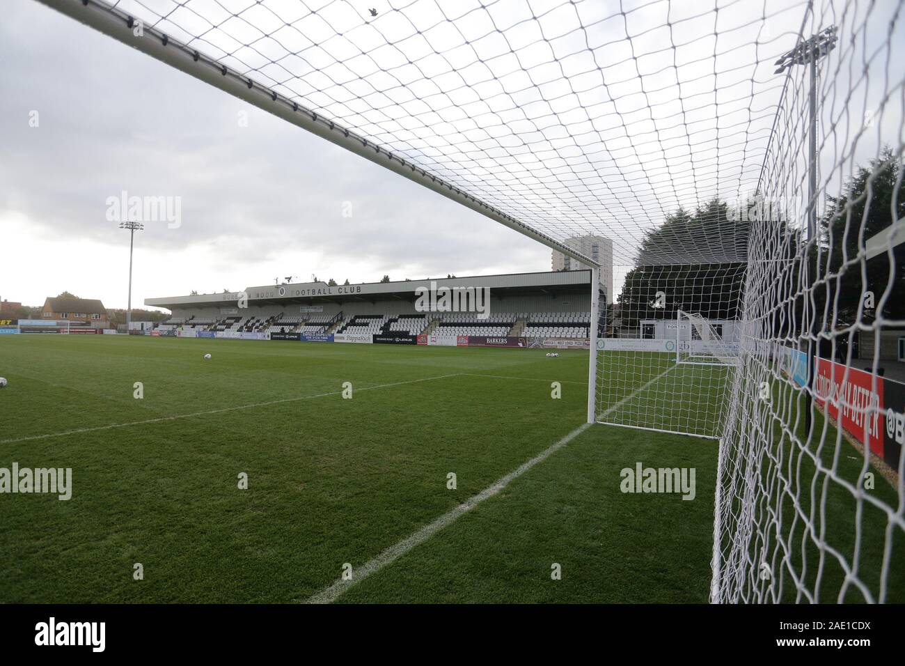 General view of the ground during Arsenal Women vs Bristol City Women, Barclays FA Women's Super League Football at Meadow Park on 1st December 2019 Stock Photo
