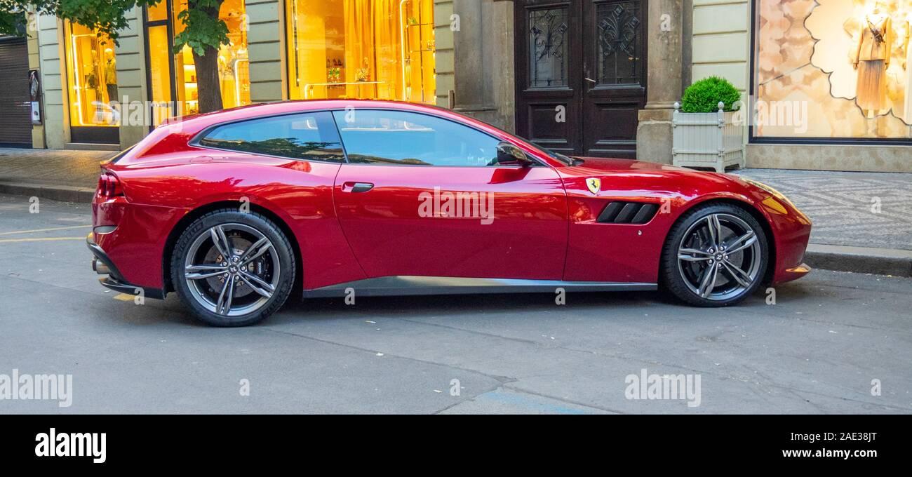 Red Ferrari Gtc4lusso T Stock Photo Alamy