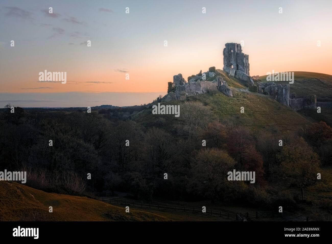Corfe Castle, Dorset, England, United Kingdom Stock Photo
