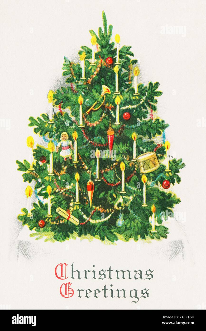 Vintage Christmas Themed Illustration Stock Photo Alamy