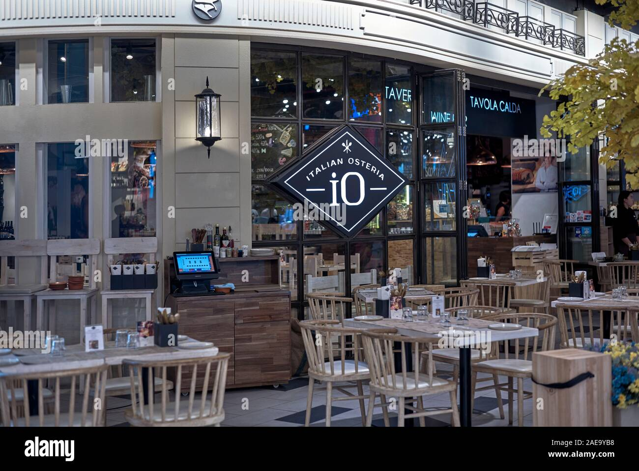 Italian Restaurant Exterior Terminal 21 Shopping Mall Pattaya Thailand Southeast Asia Stock Photo Alamy