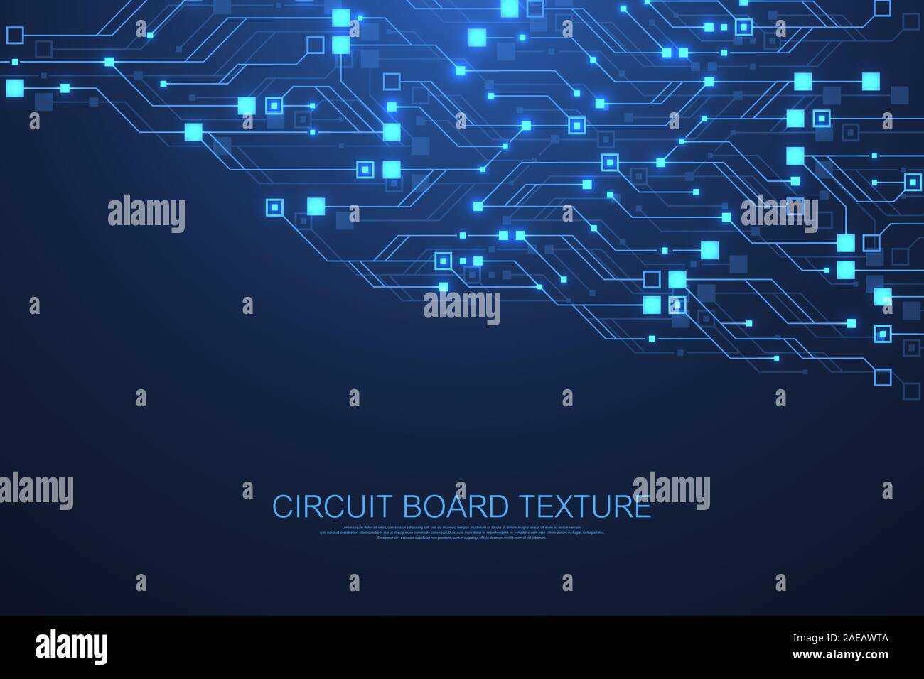 Technology Abstract Circuit Board Texture Background High