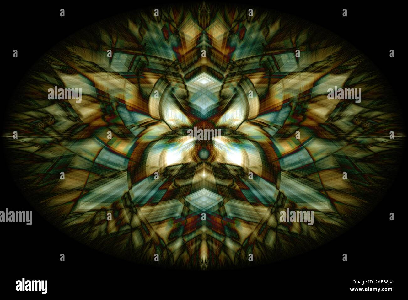 Abstract Colorful Mandala Art Symmetrical Shape Beautiful