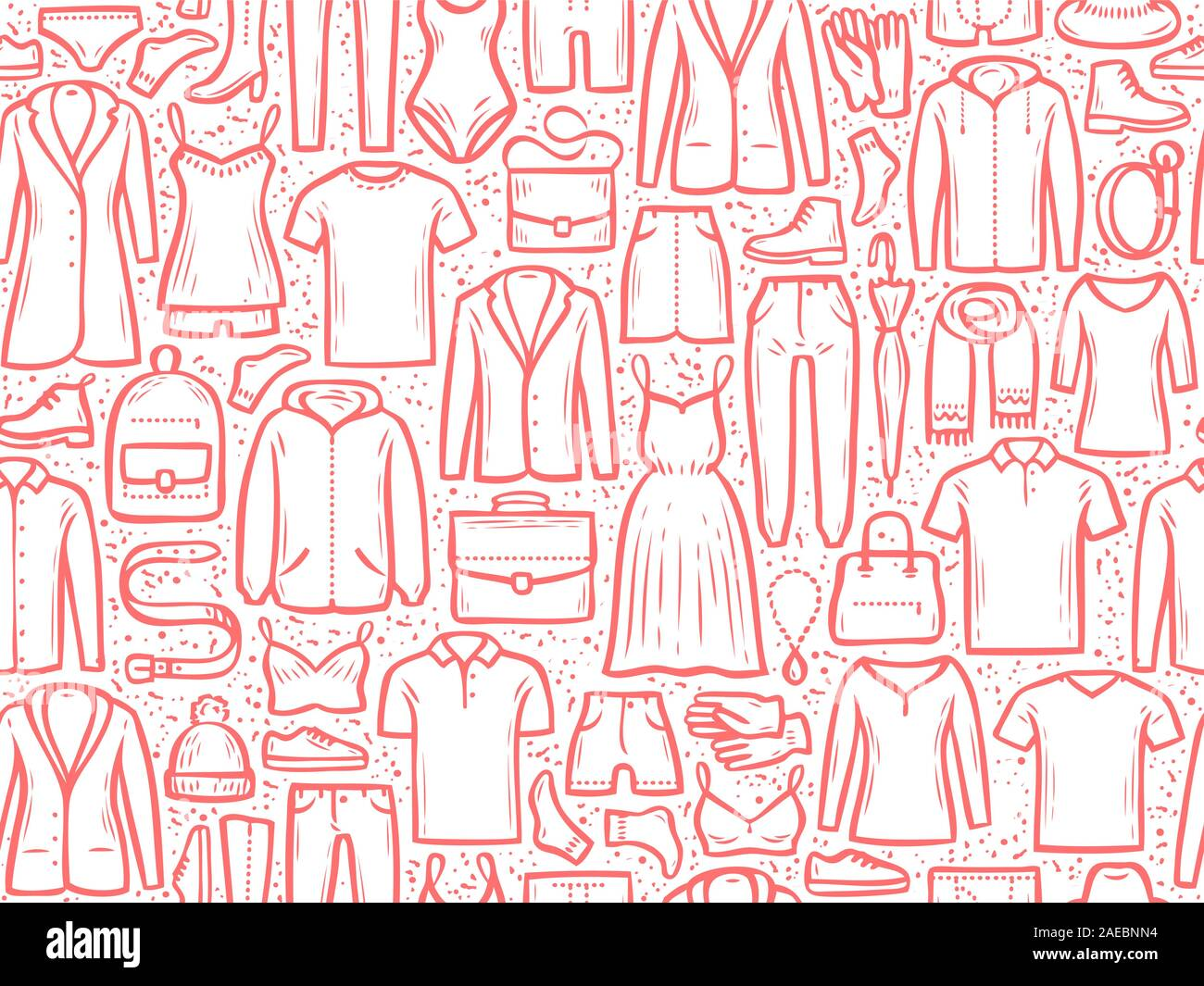 Fashion Background Seamless Clothes Pattern Vector Illustration Stock Vector Image Art Alamy