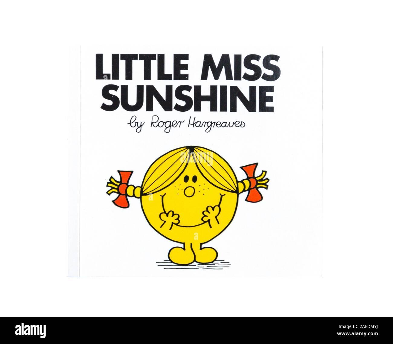'Little Miss Sunshine' of Mr Men series children's book by Roger Hargreaves, Greater London, England, United Kingdom Stock Photo