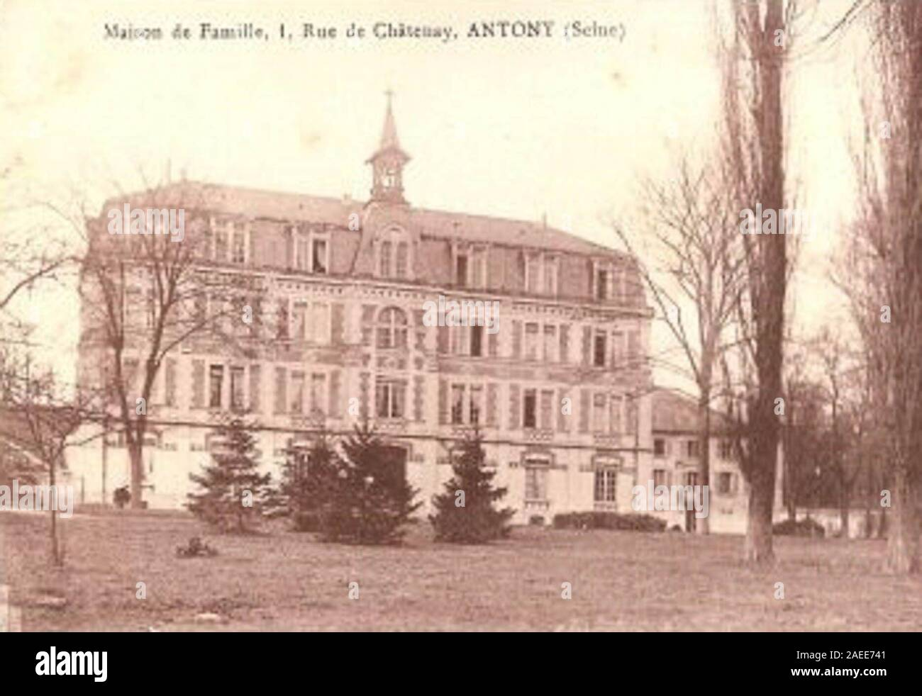 The Chénier property, transformed into a boarding house after the expulsion of Marianists in 1905. Stock Photo