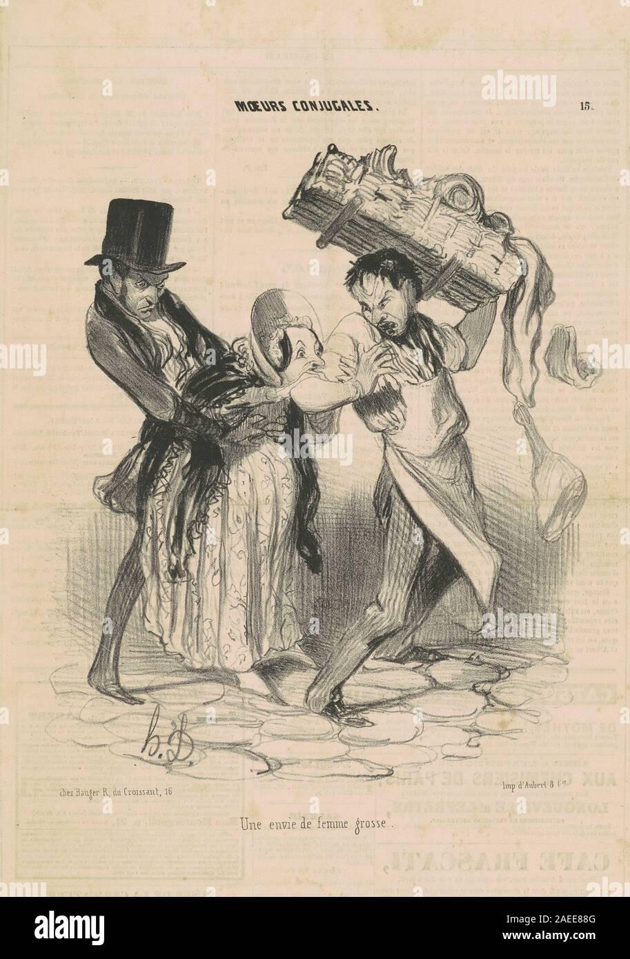 Honore Daumier Une Envie De Femme Grosse 19th Century Une Envie De Femme Grosse 19th Century Date Stock Photo Alamy