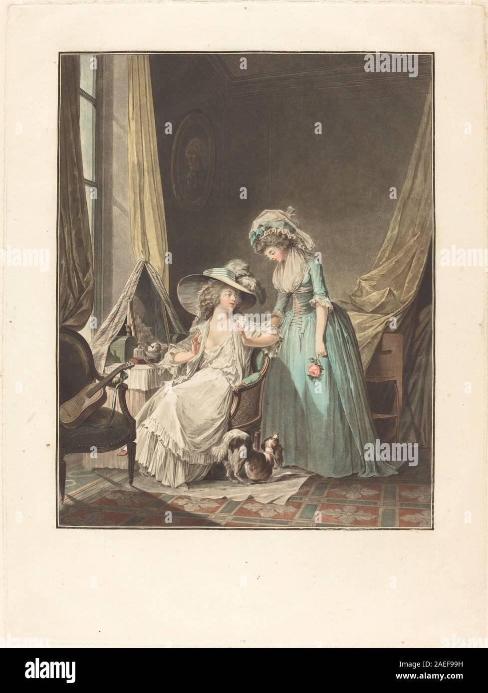 Jean-François Janinet after Nicolas Lavreince, L'aveu difficile (The Difficult Confession), 1787 L'aveu difficile (The Difficult Confession); 1787date Stock Photo
